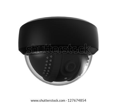 CCTV Dome Surveillance Camera - stock photo
