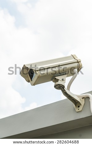 CCTV guard on the roof
