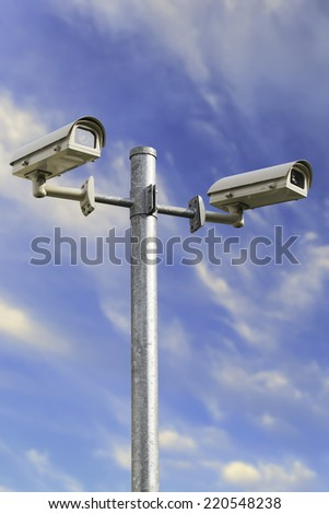 CCTV in the streets for more security.