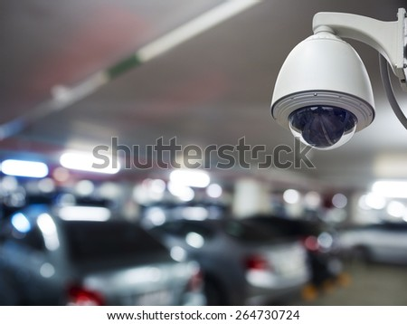 cctv installed on the wall to property security, indoor security - stock photo
