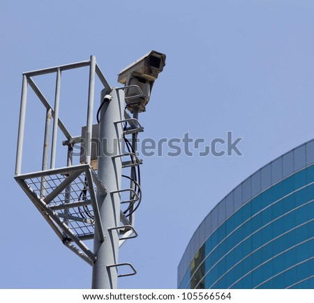 cctv on the road - stock photo