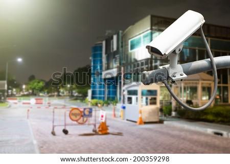 CCTV or surveillance operating - stock photo