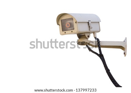 cctv security camera system outdoor, isolated