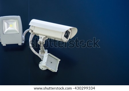 cctv security camera with light