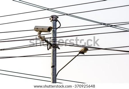 CCTV surveillance camera - stock photo