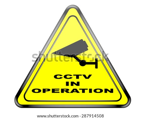 CCTV warning sign.
