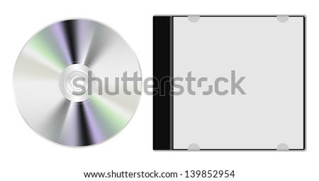 cd and box - stock photo