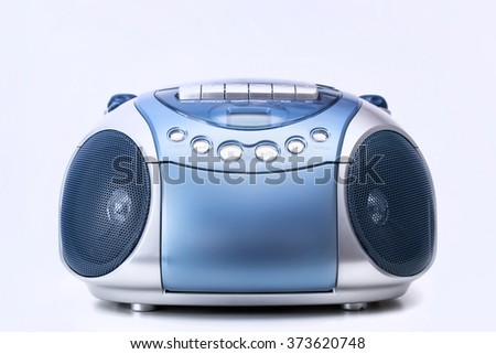 CD and cassette player - stock photo