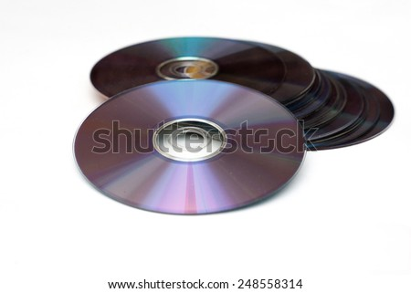 CD and DVD - stock photo