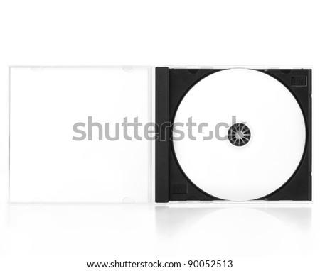 CD Case Open isolated on white background - stock photo