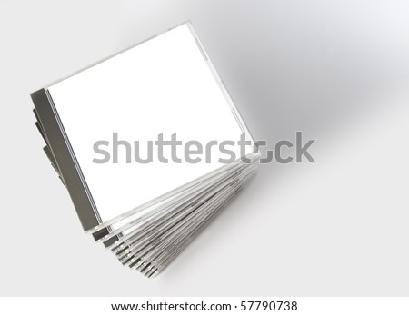 cd cases - stock photo