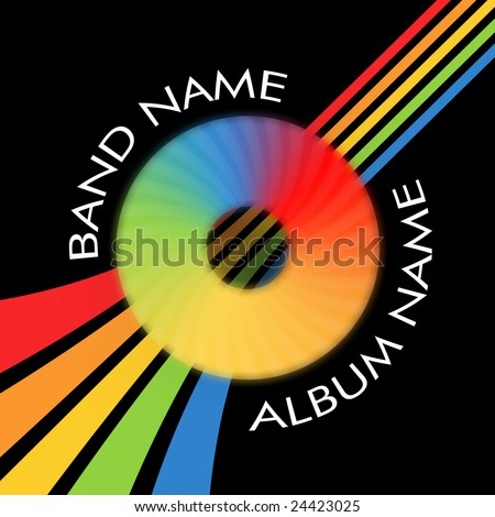 CD - Cover on black background with colorful strips