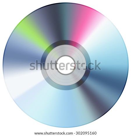 CD disc blue - stock photo