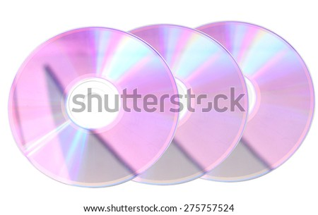 CD disk on a white background isolated - stock photo