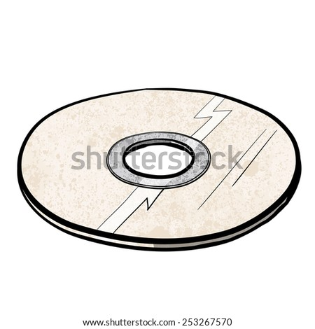 cd/dvd. A children's sketch. Color image. - stock photo