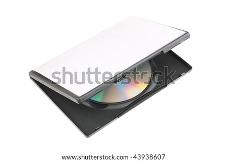 CD/DVD box isolated on white - stock photo