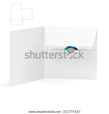 CD & DVD Brochure Envelope for Software Distribution and Die Line Template