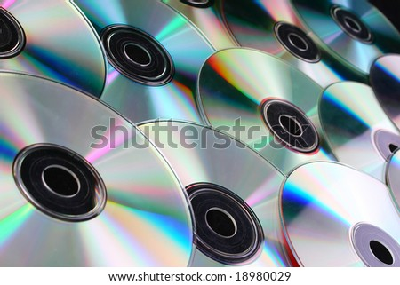 cd dvd discs over black background, computers
