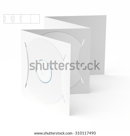 CD & DVD Folding Brochure with Die Line Template