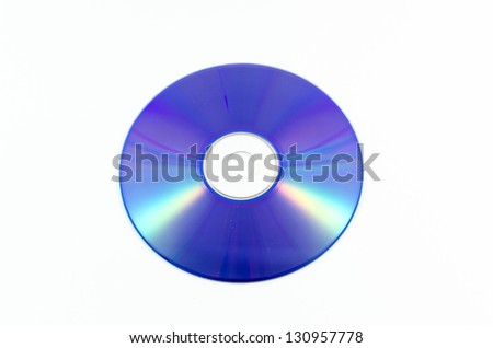 CD/DVD-ROM for PC on a white background - stock photo