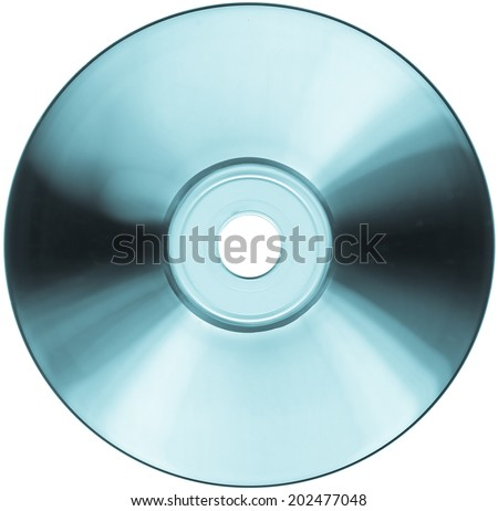 CD DVD storage support for audio music video data - cool cyanotype