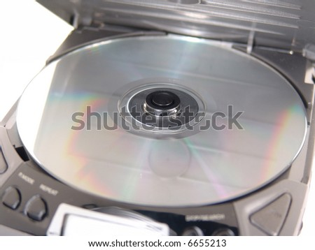 cd in portable cd player