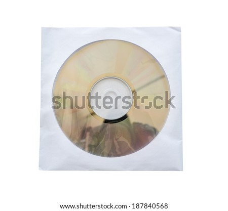 CD in white paper envelopes.