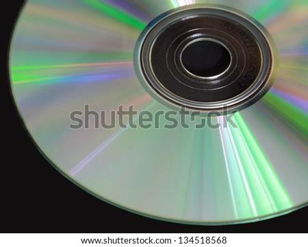CD on black table - stock photo