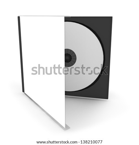 cd or dvd case with a disc (3d render)