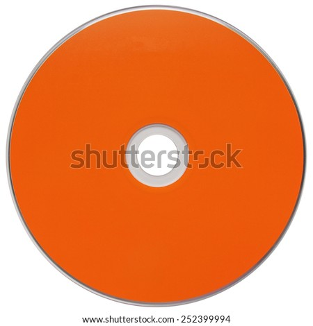 CD or DVD for music data video recording isolated over white - stock photo