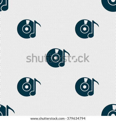 CD or DVD icon sign. Seamless abstract background with geometric shapes. illustration - stock photo