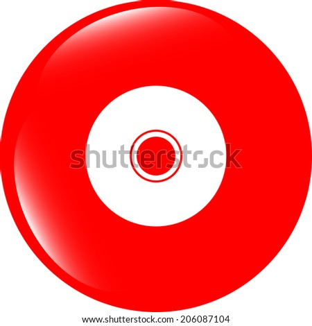 CD or DVD sign icon. Compact disc symbol. Modern UI website button - stock photo
