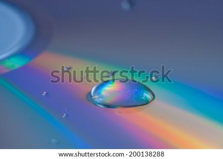 cd reflection abstract - stock photo