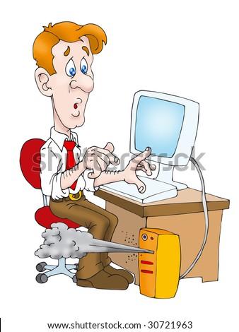 Cartoon Office Worker Vector Illustration Stock Vector 50476822 ...