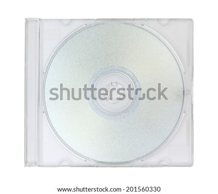 cd rom in plastic case - stock photo