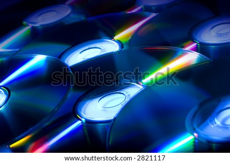 CD's - stock photo