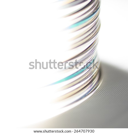 cd stack - side view - stock photo