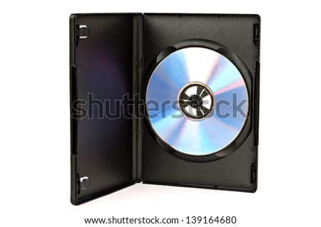 CD with package on white isolation background - stock photo