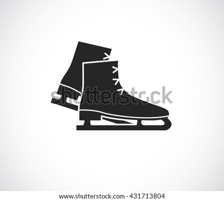 ce skates black icon - stock photo