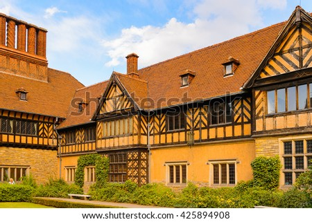 Cecilienhof Palace a palace in Potsdam, Brandenburg, Germany.  Palaces and Parks of Potsdam and Berlin UNESCO World Heritage Site - stock photo
