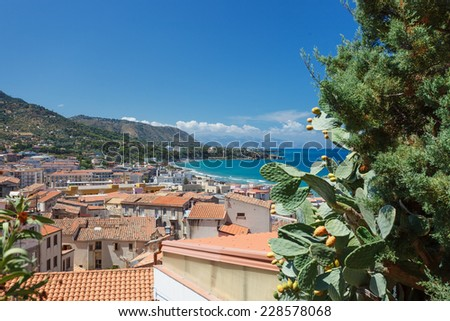 cefal�¹ roofs - stock photo