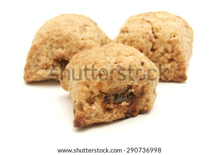 Ceglie biscuits on a white background - stock photo