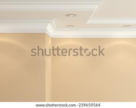 Ceiling cornice.   - stock photo
