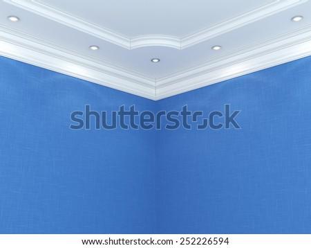 Ceiling. 3d rendering - stock photo