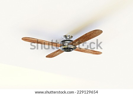 ceiling fan isolated on white background