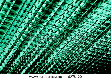 Ceiling green office lamp - stock photo