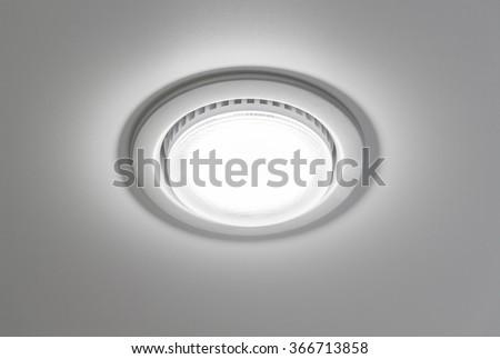 Ceiling light closeup - stock photo