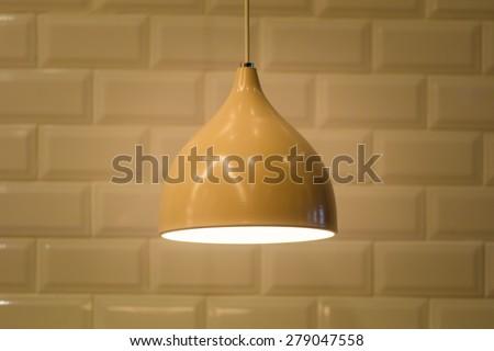Ceiling light lamp decor. - stock photo