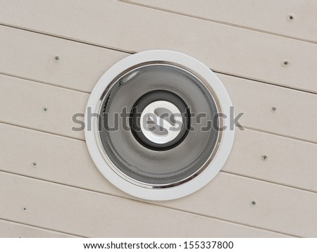 Ceiling light on background - stock photo