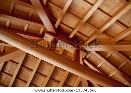 Ceiling of Pavilion - stock photo